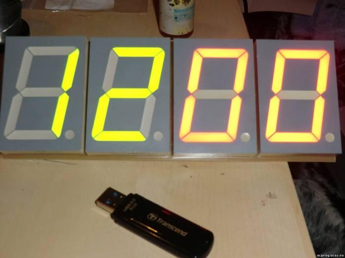 Часы таймер на pic16f628a и 7-ми сегментных индикаторах